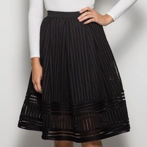 She and Sky Mesh Midi Skirt Size Large